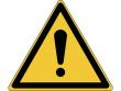 1: Warnschild - Allgemeines Warnzeichen (gemäß DIN EN ISO 7010, ASR A1.3)