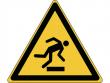 7: Warnschild - Warnung vor Hindernissen am Boden (gemäß DIN EN ISO 7010, ASR A1.3)