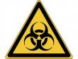 9: Warnschild - Warnung vor Biogefährdung (gemäß DIN EN ISO 7010, ASR A1.3)