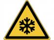 10: Warnschild - Warnung vor niedrieger Temperatur bzw. Frost (gemäß DIN EN ISO 7010, ASR A1.3)