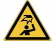 20: Warnschild - Warnung vor Hinderbnissen im Kopfbereich (gemäß DIN EN ISO 7010)