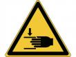 24: Warnschild - Warnung vor Handverletzungen (gemäß DIN EN ISO 7010, ASR A1.3)