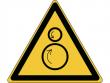 25: Warnschild - Warnung vor gegenläufigen Rollen (gemäß DIN EN ISO 7010, ASR A1.3)