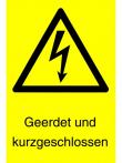 18: Geerdet und kurzgeschlossen (Warnschild)